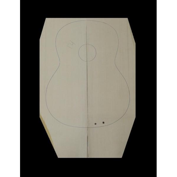 Καπάκι κιθάρας από Ερυθρελάτη Άλπεων ER-002